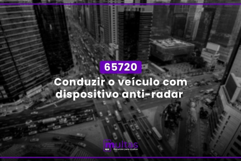 Conduzir O Veículo Com Dispositivo Anti-Radar